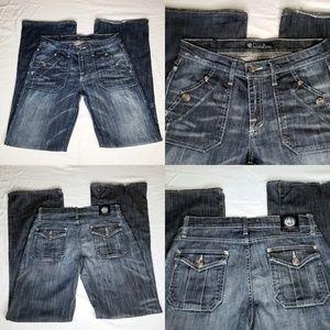 Rock & Republic Suzie Jeans Flare Bottoms R&R Flap